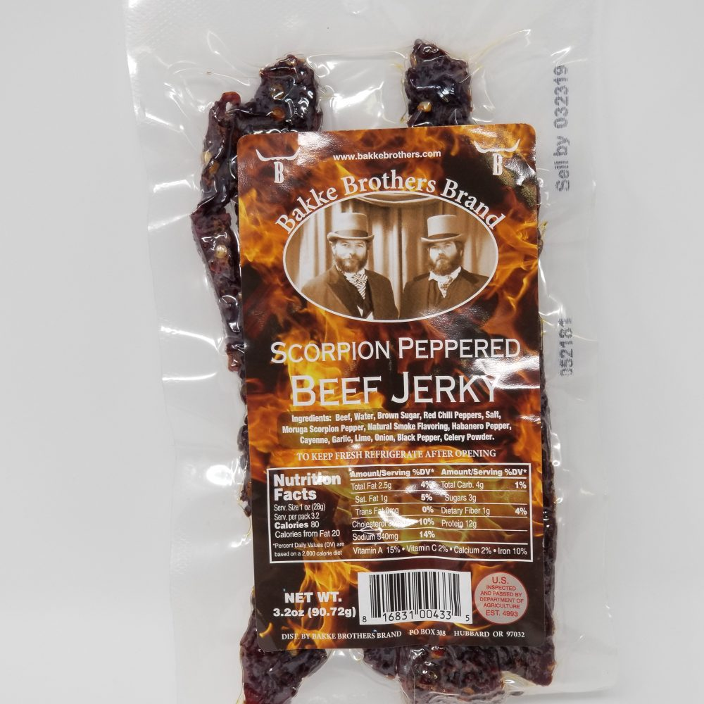 Buy Beef Jerky Online Scorpion Peppered SUPER HOT