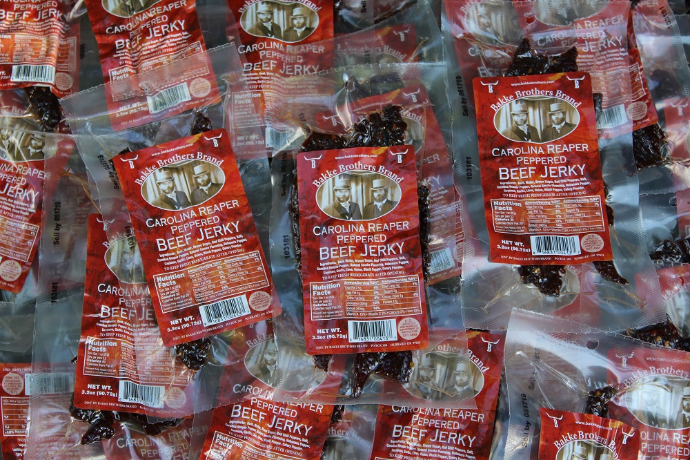 Carolina Reaper Beef Jerky 40 Pack Wholesale Beef Jerky Pricing at Whiskeyhilljerky.com