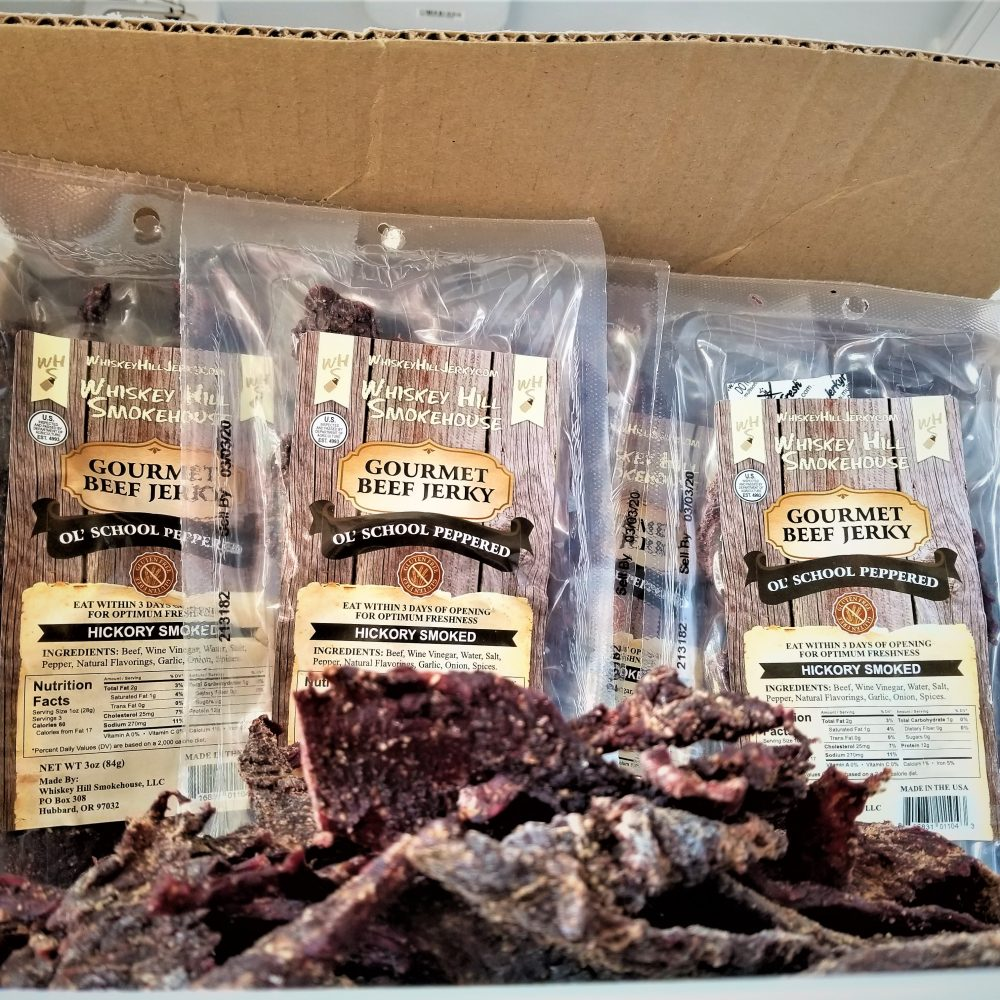 Wholesale Beef Jerky Gourmet Old School Peppered 3oz 3 oz bulk jerky