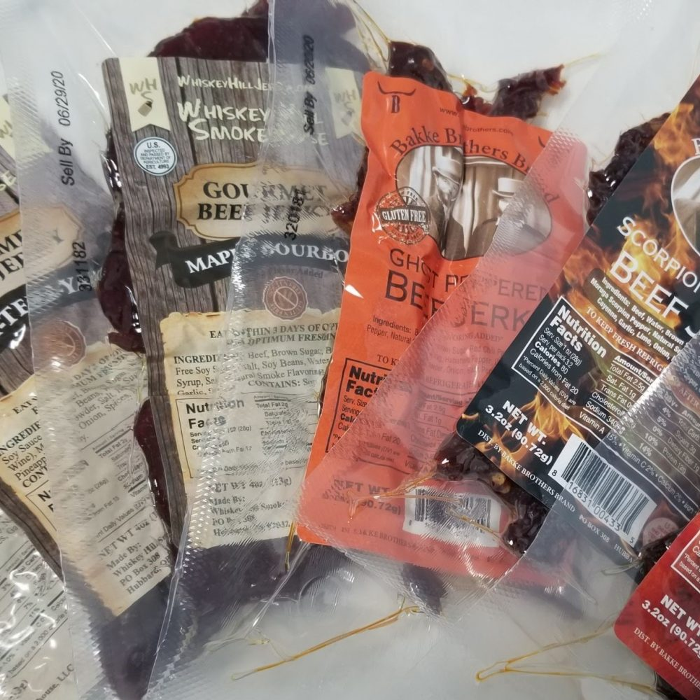gourmet beef jerky with ghost pepper carolina reaper scorpion pepper
